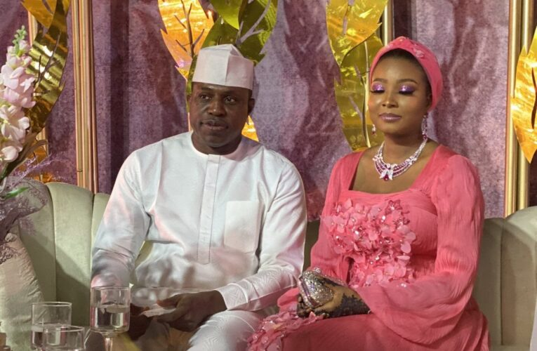 Check Out Photos From The Wedding Of Ex-Speaker, Dimeji And Aisha Bankole…