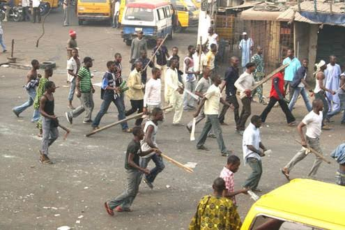 Tension As NURTW, Rival Group Clash In Lagos (Video)…