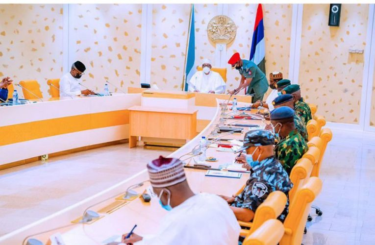 Buhari presides over crucial security meeting in Aso Villa…