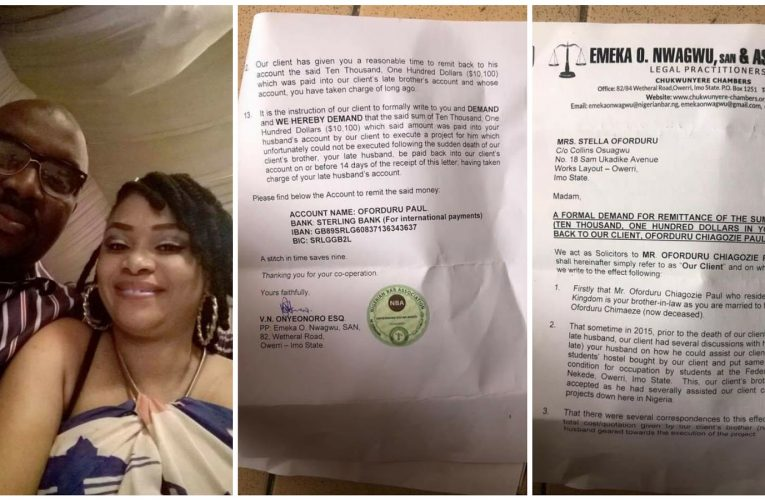 (PHOTOS) Igbo lady cries out to late husband after receiving court threats from his family over properties…