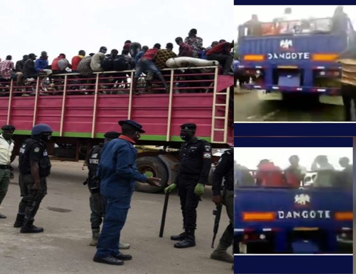 Video: Over 150 Housa Men, Children Transporting To South East In Dangote's Truck Arrested By Police…