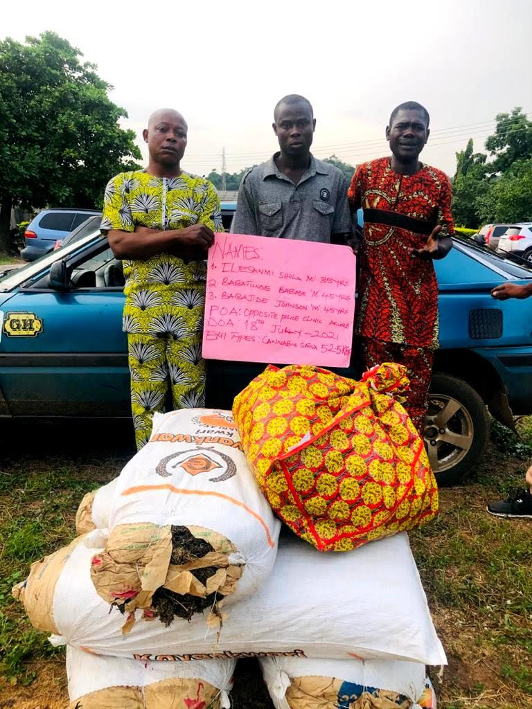 NDLEA Arrests NURTW Chairman, 3 Others For Drug Trafficking In Ondo, Benue…